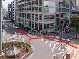 恵比寿駅東口交差点のイメージ